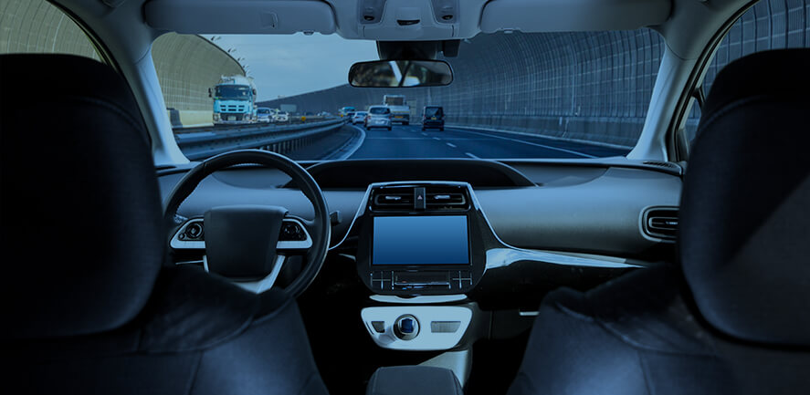 car dashboard from inside